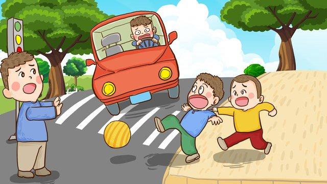 Национальный день безопасности дорожного движения запрещает использование нарисованных вручную оригинальных иллюстраций на дороге Ресурсы иллюстрации Иллюстрация изображения