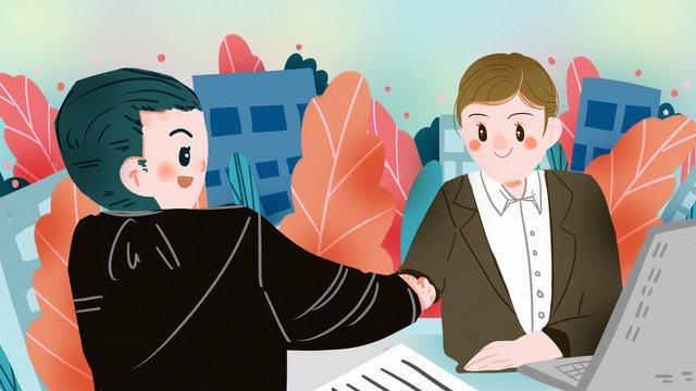 商談会残業事務所スーツ財務採用会議 イラスト素材 イラスト画像