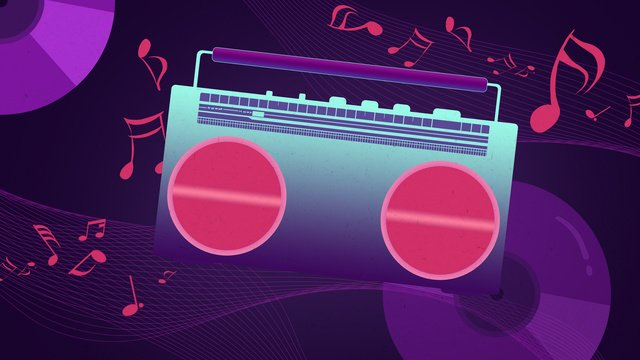cool neon style music festival original illustration wallpaper poster llustration image