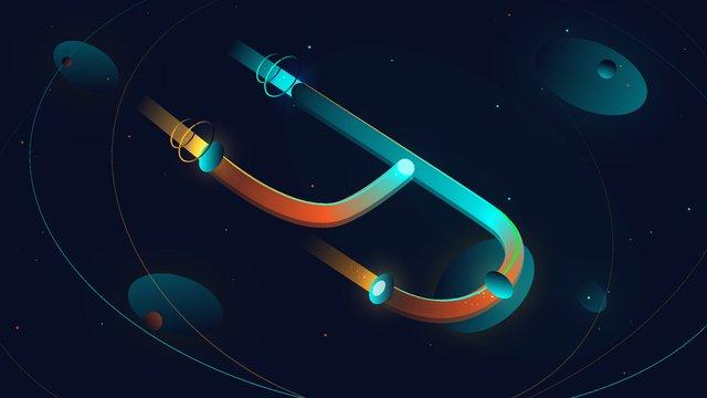 Neon skyline letter y universe vector illustration, Neon Skyline, Letter, Y illustration image