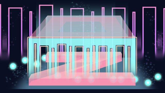 Neon skyline illustration font, Neon Skyline, Neon, Neon Font illustration image