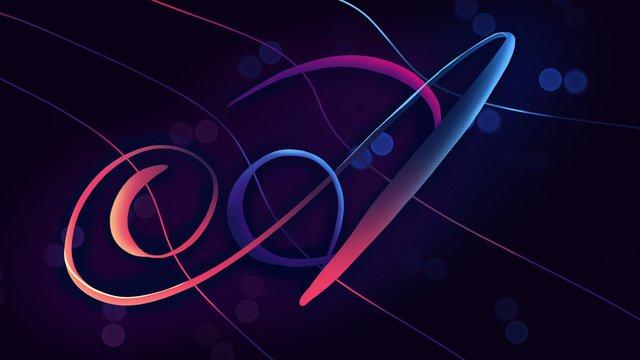 neon skyline swashes a letter hand drawn poster illustration wallpaper llustration image illustration image