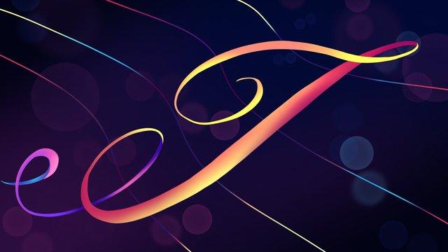 neon skyline swashes letter j hand drawn poster illustration llustration image illustration image