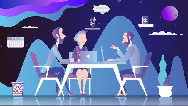 illustrazione del personaggio dei cartoni animati di office Immagine dell'illustrazione