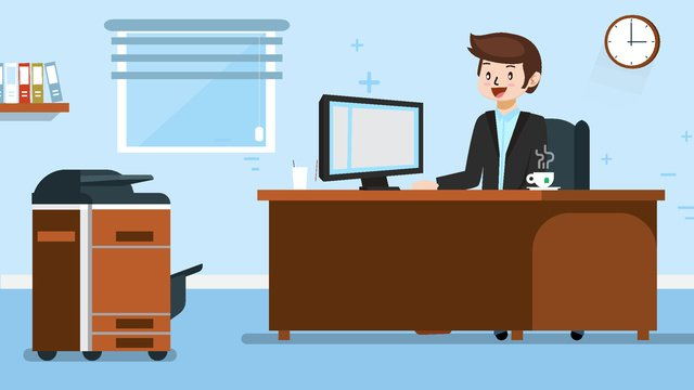 văn phòng hoạt hình minh họa vector Hình minh họa Hình minh họa