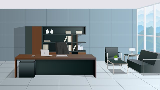 simple atmospheric scene gradient business office furnishings llustration image illustration image