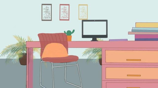 辦公設備辦公場景 插畫素材 插畫圖片