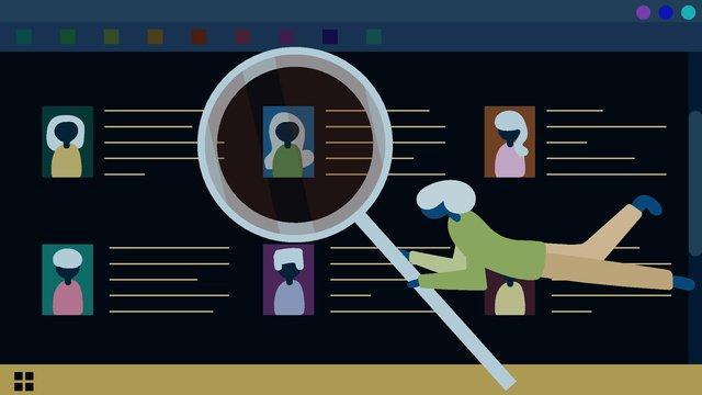 Онлайн подбор талантов осенних трюков простая креативная иллюстрация Ресурсы иллюстрации Иллюстрация изображения