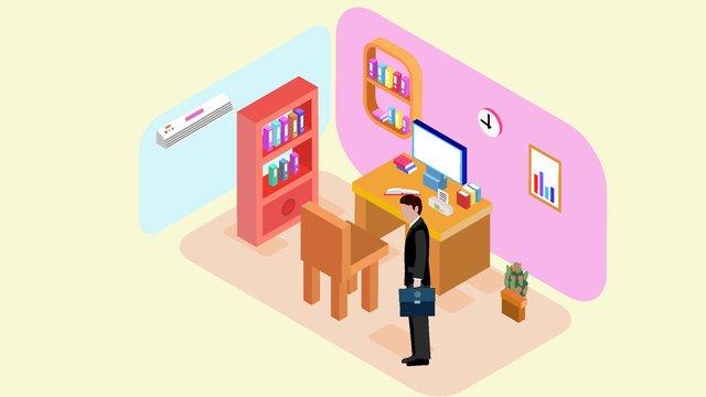 Bản gốc 25d minh họa cảnh văn phòng kinh doanhBản  Gốc  25d PNG Và Vector illustration image