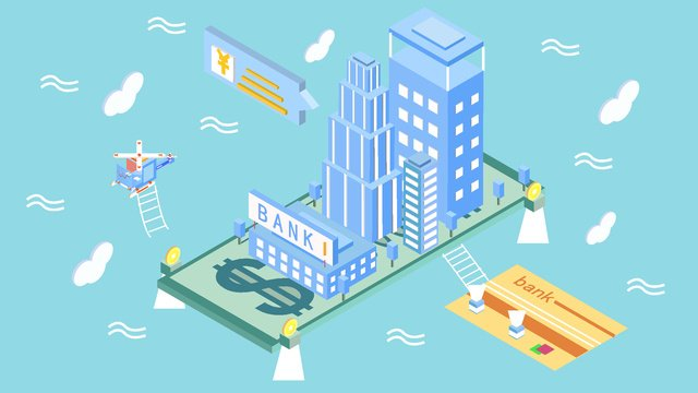 original financial technology future city 2 5d style vector illustration llustration image