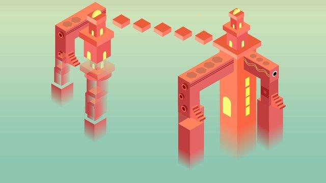 25d công nghệ gốc castle minh họa Hình minh họa