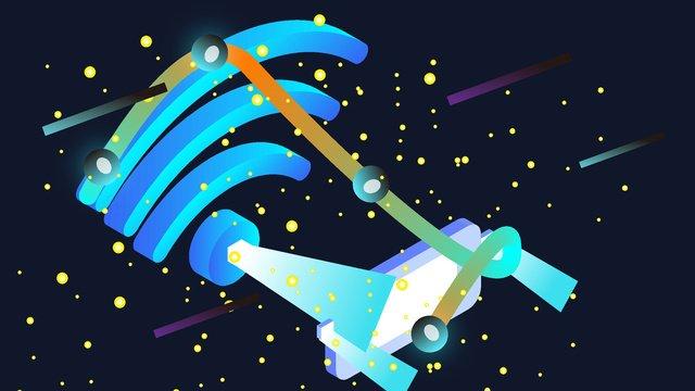 original 2 5d internet technology neon skyline vector illustration llustration image illustration image