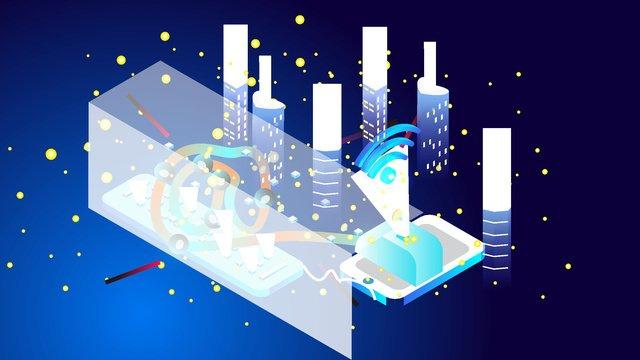 original 2 5d internet technology vector illustration llustration image illustration image
