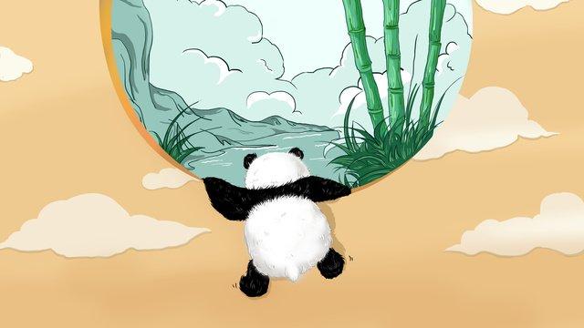 ngày gấu trúc thú cưng dễ thương Hình minh họa