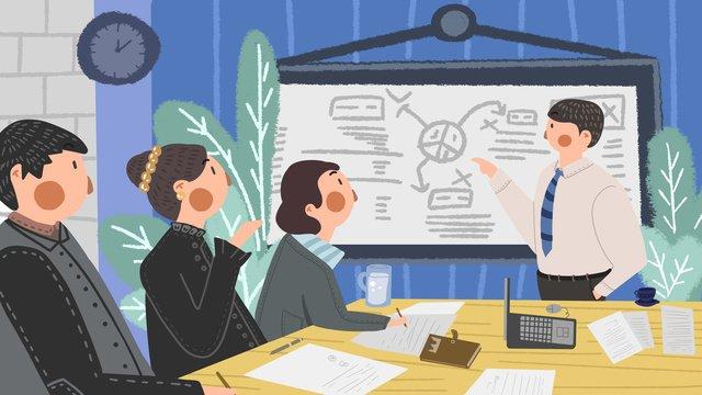 Business people meeting, Original, Business, Meeting illustration image