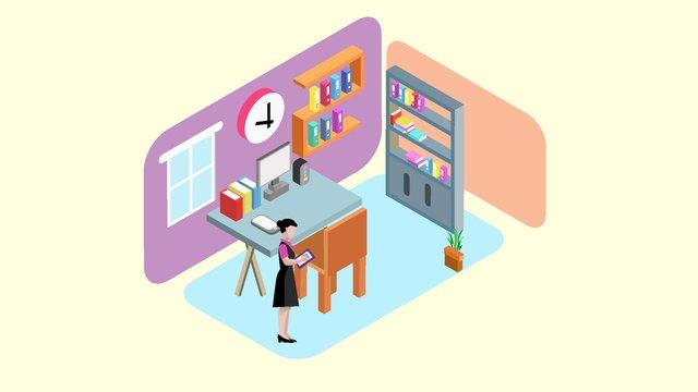 original 25d business office scene vector illustration llustration image