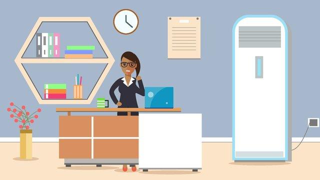 original business office meeting character scene flat style illustration llustration image illustration image