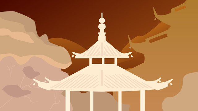 original chinese ancient architecture temple vector illustration llustration image illustration image