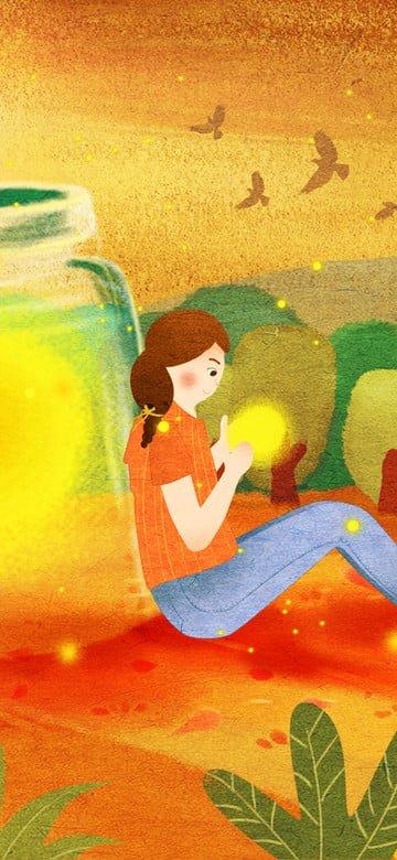 オリジナルイラスト10月こんにちは秋のポスター イラスト素材