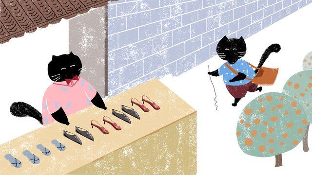 Оригинальная иллюстрация идиома история Чжэн люди покупают ручную роспись детей традиционную историю Ресурсы иллюстрации Иллюстрация изображения