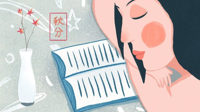 original autumnal festival girl reading illustrator llustration image illustration image
