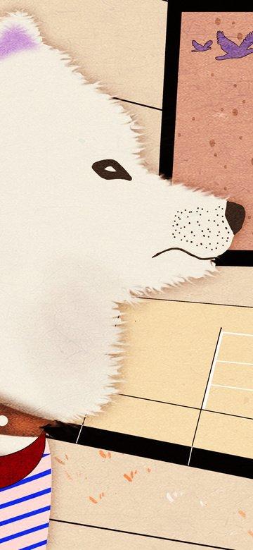 幻想犬のオリジナルイラストかわいいペットシリーズ イラスト素材