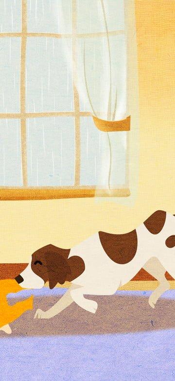オリジナルイラスト可愛いペットシリーズ犬毎日 イラスト素材