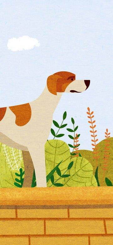 순찰 시리즈의 애완 동물의 원래 그림 삽화 소재