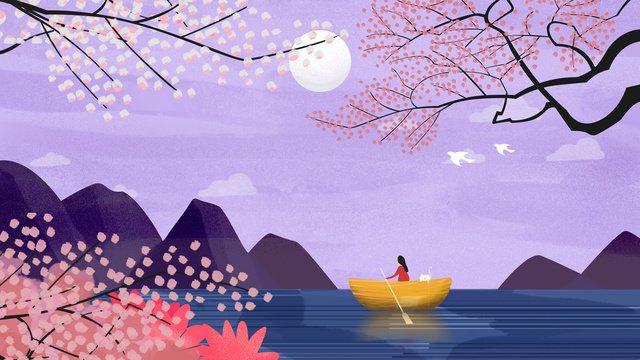 オリジナルイラスト夜空の風景 イラストレーション画像 イラスト画像