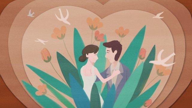 convite de papel casamento vento microscópico ilustração original Material de ilustração
