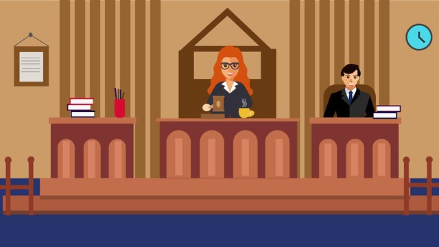 Original lawyer office character scene flat style illustration llustration image illustration image
