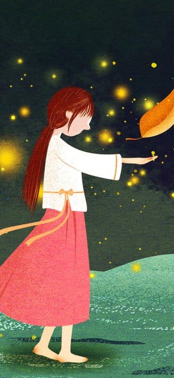 Original night illustration good world, Original, Night, Illustration illustration image