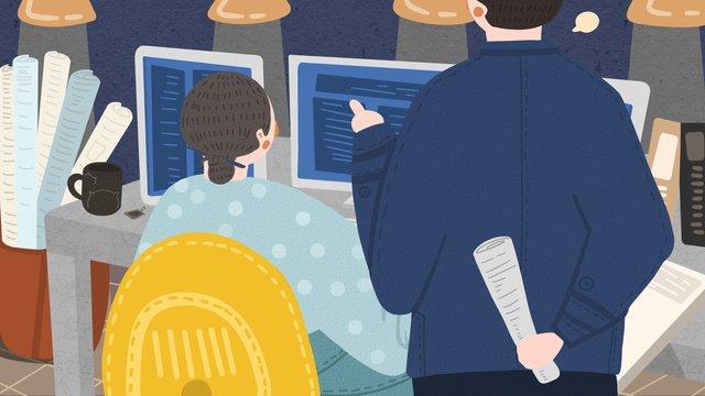 Люди работающие сверхурочно ночью Ресурсы иллюстрации Иллюстрация изображения