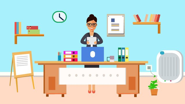 original office furnishings supplies character scene flat style vector illustration llustration image
