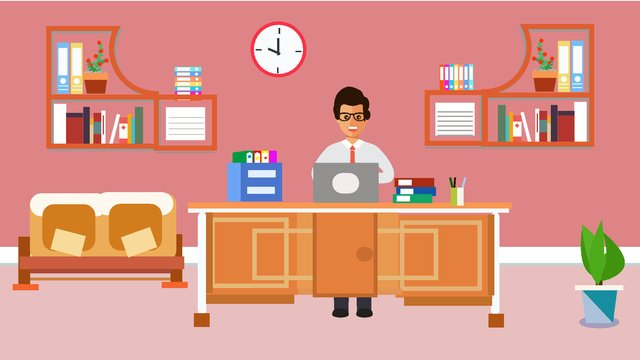 original office furnishings scene vector illustration llustration image illustration image