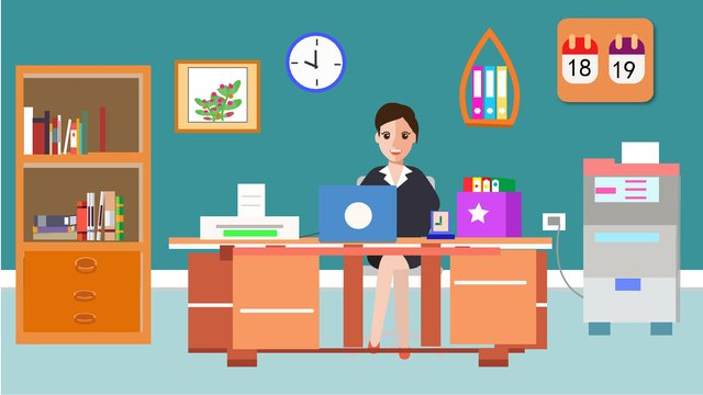 original office furnishings character scene vector illustration llustration image illustration image
