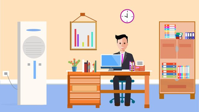 vector illustration of people scene in original office overtime llustration image