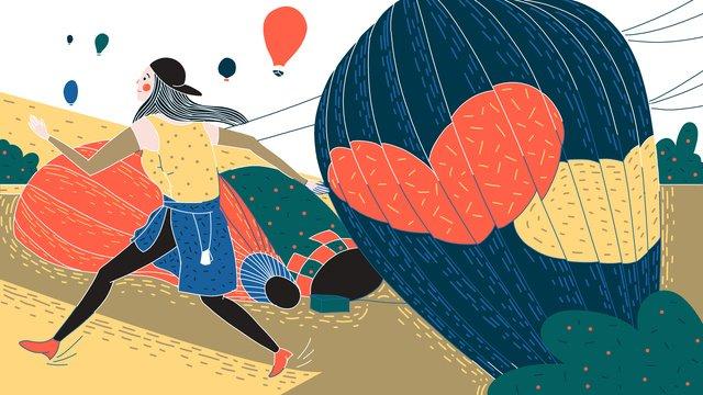 original retro texture travel festival of turkey hot air balloon illustration llustration image illustration image