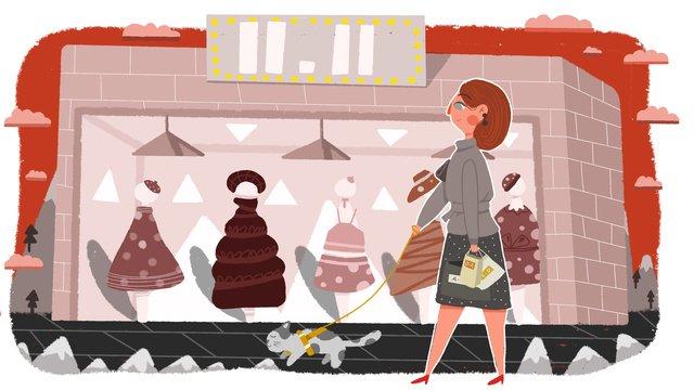 11 월 일 쇼핑 페스티발 삽화 소재 삽화 이미지