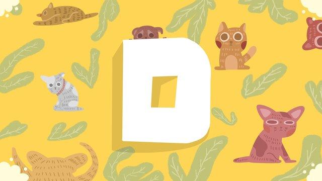 Small fresh letter d dog illustration llustration image illustration image