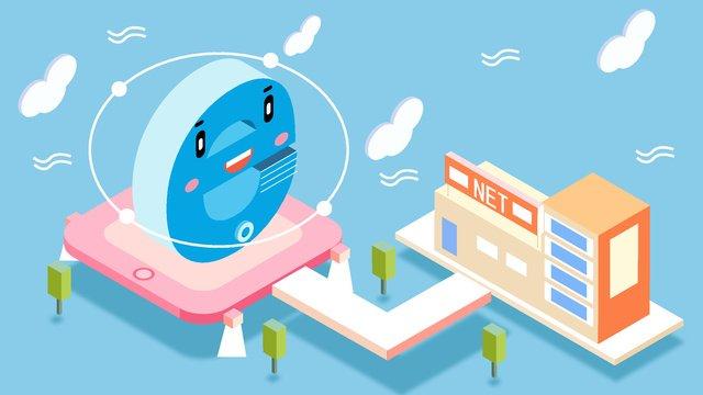 original internet small e robot fresh style vector illustration llustration image illustration image