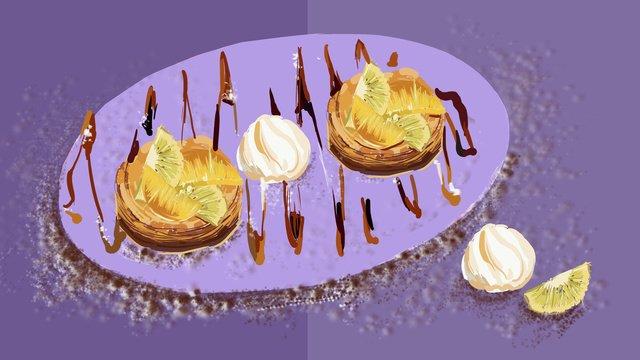 Pastry puff fruit fresh illustration, Pastry, Puff, Fruit illustration image