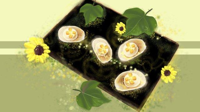 Pastry floret leaves fresh illustration llustration image