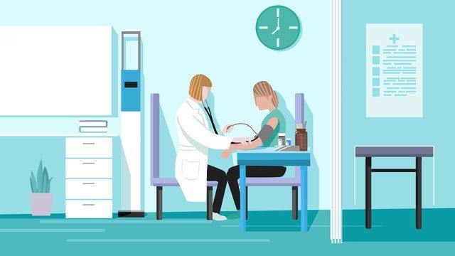 medical scene blood pressure illustration flat wind llustration image illustration image