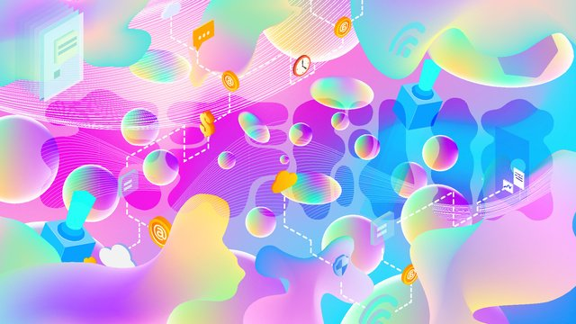 pink fluid gradient future technology mobile phone illustration ai llustration image