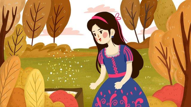 森のお姫様植物  森  プリンセス PNGおよびPSD illustration image