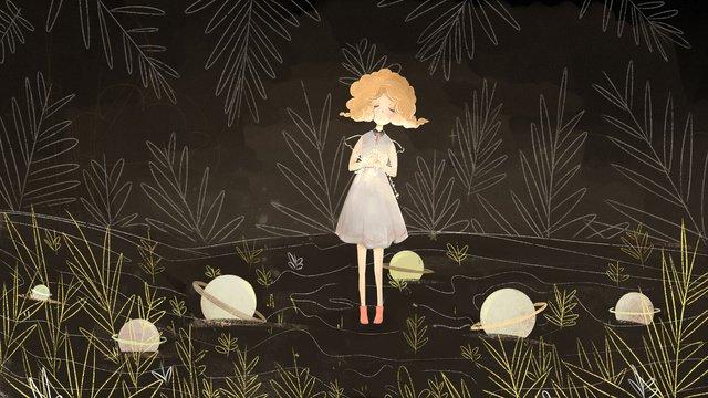 元の図はおやすみなさい世界の女の子の夜の祈りを治す イラスト素材