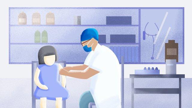 vấn đề tiêm vắc xin bệnh viện cho bé gái Hình minh họa Hình minh họa