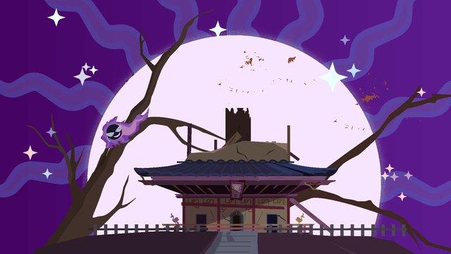 Тихая волшебная зарядная башня purple moonlight Ресурсы иллюстрации Иллюстрация изображения