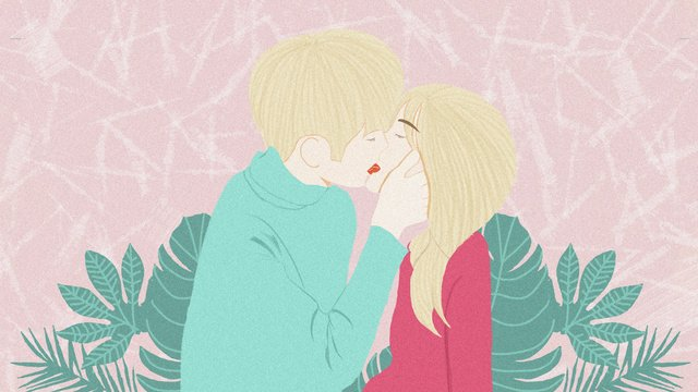 Original illustration chinese valentines day couple kissing llustration image illustration image
